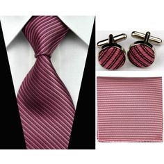 ">> Click to Buy << 3""/7.5cm Silk Tie Sets Mens Accessories Solid Striped Slim Business Hanky Handkerchief Cufflinks Necktie Ties for Men Gravatas  #Affiliate"