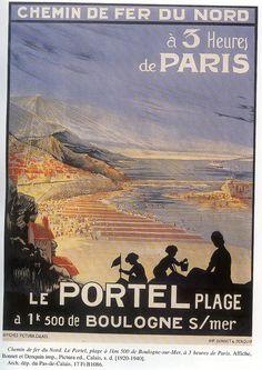 Affiche Chemin de fer du Nord Le Portel