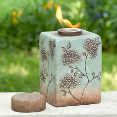 Find it at the Foundary - 10.25 in. Flora Firepot