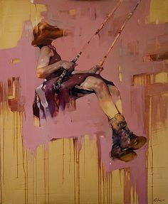 "Painting from Costa Dvorezky's ""Zero Gravity"" series."