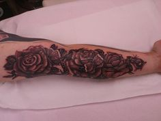 roses with butterflies tattoos | Roses and butterflies Tattoo Picture