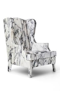 // Cerruti Baleri - Very cool! I hope its fabric that looks like marble and not actually marble.