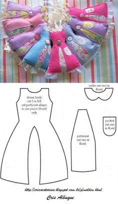 Perfumadores en forma de vestido: