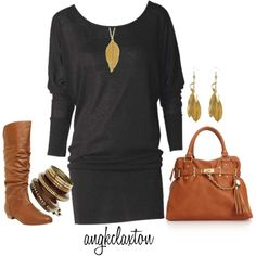 Sweater Dress, created by angkclaxton on Polyvore