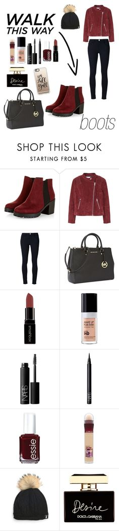"""""""Walk this way: Chelsea boots!"""" by blackmind3 ❤ liked on Polyvore featuring MANGO, Frame, Michael Kors, Smashbox, MAKE UP FOR EVER, NARS Cosmetics, Essie, Maybelline, Tallis and Dolce&Gabbana"""