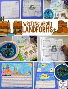 Landforms building, writing, and map making project. These were wonderful examples of our learning for parent/teacher conferences and open house!