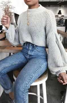 cute outfits for winter ~ cute outfits ; cute outfits for school ; cute outfits with leggings ; cute outfits for winter ; cute outfits for school for highschool ; cute outfits for women ; cute outfits for spring Chunky Sweater Outfit, Pullover Outfit, Loose Sweater, Oversized Jumper Outfit, Chunky Sweaters, Winter Sweaters, Baggy Sweater Outfits, Sweater Weather Outfits, Cute Sweaters For Fall