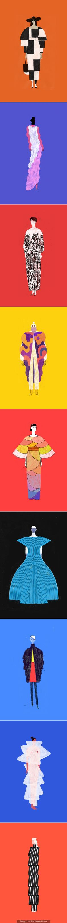 'I Don't Like Clothes' - Ongoing series of fashion illustrations by Dadu Shin