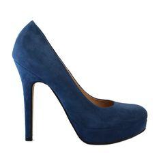 pantofi-din-piele-blue-velour-cu-platforma-cu-toc-de-12-cm-257pt-1 Shoes, Fashion, Moda, Zapatos, Shoes Outlet, Fashion Styles, Shoe, Footwear, Fashion Illustrations
