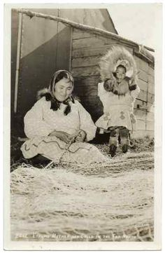 RPPC Vintage Native American Eskimo Real Photo Postcard Mother and Child | eBay