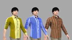 Men Shirt with different textures