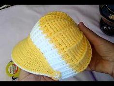 Knitting For Kids, Baby Knitting Patterns, Knitting Projects, Crochet Patterns, Sombrero A Crochet, Crochet Beanie, Crochet Hats, Crochet Baby Sandals, Baby Sun Hat