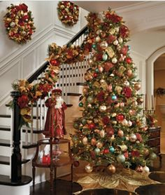 Oh how I wish my ceilings were high enough for a tree this tall.  |  Front Gate