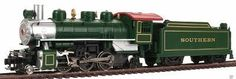 Prairie 2-6-2 w/Smk/Tndr SOU Green HO (bac51504) Bachmann HO Scale Model Train Steam Locomotives