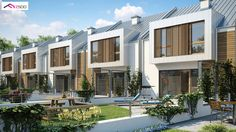 Projekt domu Zs1 Domy szeregowe w nowoczesnym stylu, przeszklona lukarna i energooszczędna bryła.