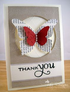 Beautiful butterfly card.  Would look pretty with sheet music, too.