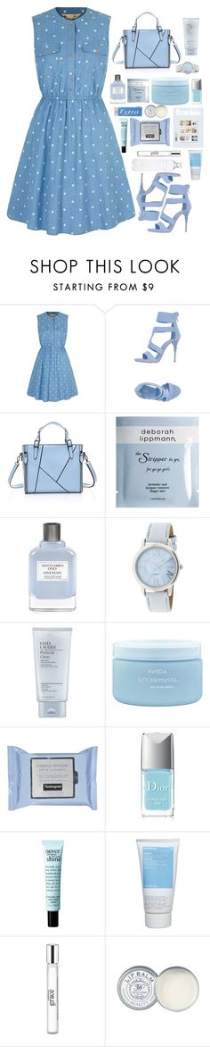 """#163 i dont wanna feel blue anymore"" by theyoumi ❤ liked on Polyvore featuring Yumi, Le Silla, Deborah Lippmann, Givenchy, Estée Lauder, Aveda, Christian Dior, philosophy, Korres and Jack Wills"