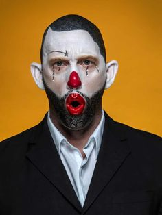 Face off: extreme clown portraits – in pictures | Art and design | The Guardian French Chic Fashion, Arte Peculiar, Marco Antonio, Clown Faces, Face Off, Some Pictures, The Guardian, Red Hair, Going Out