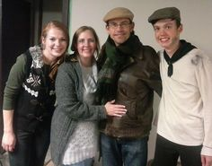 Rich and Joyce Swingle and cast members from The Messenger's Box