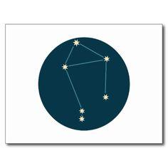 Constelação do Libra Cartão Postal