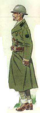 """Spanish civil war """"Teniente de Infantería de la Divisioón """"Fiamme Nere"""" en uniforme de invierno. 1937"""""""