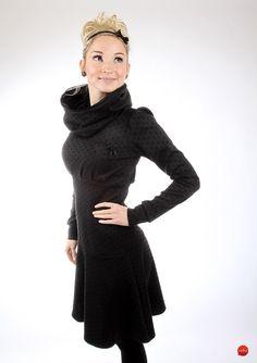 """Knielange Kleider - MEKO """"Flotty"""" Kleid Damen Schwarz Punkte Spitze - ein Designerstück von meko bei DaWanda"""