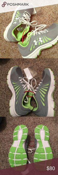 UA. NEW WITH TAGS NEW WITH TAGS UNDER ARMOR TENNIS SHOES. Very cute! Under Armour Shoes Athletic Shoes