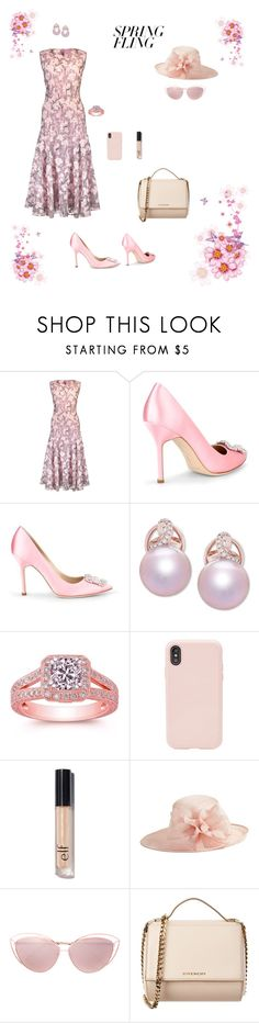 """Untitled #759"" by jesica-d-psc ❤ liked on Polyvore featuring Giambattista Valli, Manolo Blahnik, Honora, Sonix, Nordstrom, Linda Farrow, Givenchy and springdresses"