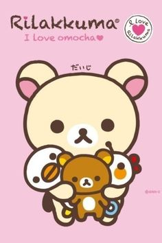 Rilakkuma File: I Love Omocha Wallpapers Kawaii, Kawaii Wallpaper, Kawaii Illustration, Kawaii Shop, Kawaii Art, Anime Kawaii, Kawaii Stuff, Japanese Characters, Cute Characters