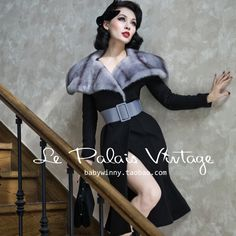 Aliexpress.com : Buy FREE SHIPPING Le palais vintage elegant imitation mink large lapel fish tail slim woolen outerwear/coat from Reliable fishing mark suppliers on Vintage Palace.