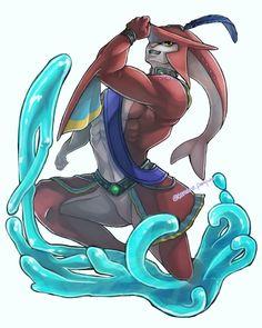 「シド」/「たまろ」のイラスト [pixiv] Gerudo Link, Prince Sidon, Breath Of The Wild, Legend Of Zelda, Pixiv, Shark, Cute, Fictional Characters, Kawaii