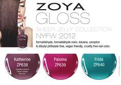 Zoya Gloss sheer jelly New York Fashion Week Fall 2012 nail polish direct from the runway!