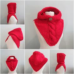 Knitting Pattern Hoodie Cowl Super Bulky Yarn by WomanOnTheWaterMaid Marian Three Knitting pattern by Grace RoseHat and Cowl Knit Beanie Knitting Patterns Free, Knitting Yarn, Crochet Hood, Crochet Pattern, Free Pattern, Hooded Cowl, Super Bulky Yarn, Quick Knits, Winter Hoodies