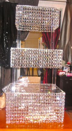 Beautiful Crystal Wedding Cake Tiered Chandelier by sheriscrystals