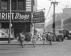 Thrift Drug Co... The 1938 Pittsburgh-based pharmacy chain was bought by J.C. Penney in 1968, and was ultimately merged into Eckerd Pharmacy in 1997, which are now all CVS or Rite Aid Pharmacies