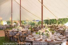 What a lovely juxtaposition of the sailcloth tent with it's nautical/vintage look and the soft sheer fabric of the this special tent. Wedding Reception Layout, Tent Reception, Tent Wedding, Marquee Decoration, Tent Decorations, Event Tent Rental, Cool Tents, Sailing Outfit, Recent Events
