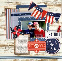 baseball scrapbook layouts | Baseball themed scrapbook layout created by @tiffanyhood using ...