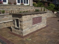Built in bar? No problem! Use stone for an outdoor bar that is durable and matches your patio space perfectly.