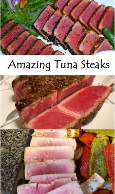 This is an elegantly simple way to cook tuna that any restaurant would be jealous of. Amazing Tuna Steaks This Amazing Tuna Steaks is perfect for Steak lovers . Steak Recipes Pan, Healthy Steak Recipes, Sirloin Steak Recipes, Healthy Snacks For Diabetics, Baked Chicken Recipes, Beef Recipes, Grilling Recipes, Fish Recipes, Healthy Foods