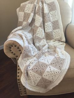 Ravelry: Arielle's Square Blanket pattern by Deborah O'Leary