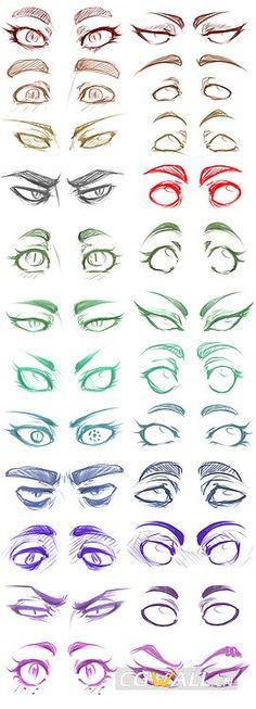 五官_动漫表情眼睛的24种画法_CGwall游戏原画网站