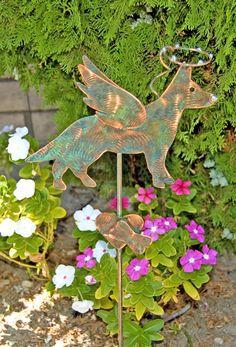 German Shepherd Dog Garden Stake / Pet Memorial by GardenCopperArt