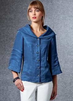 Vogue Sewing Patterns, Extra Fabric, Bias Tape, Jacket Pattern, Princess Seam, Fit, Designer, Cotton