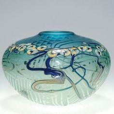 John Byron Vase, Millefiori, 1988, 6 X 9 1/4