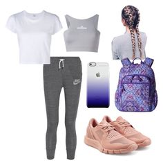 """""""Cute Nike joggers😍"""" by alyssa-wilsonn ❤ liked on Polyvore featuring NIKE, RE/DONE, adidas, Vera Bradley and Uncommon"""
