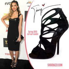 a9618454913 Giuseppe Zanotti- spring 2013 cut out sandal- Jessica Alba