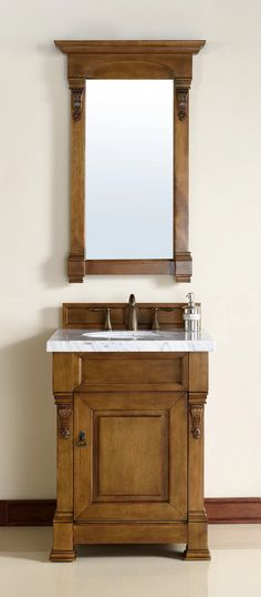 "26"" Brookfield Country Oak Single Bathroom Vanity – VANITIES EXPO"
