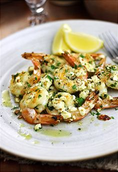 Sizzling Shrimp with Feta and Garlic