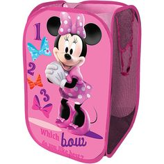 Minnie Mouse Bedroom Decor | Purchase the Disney Minnie Mouse Square Pop-Up Hamper for less at ...