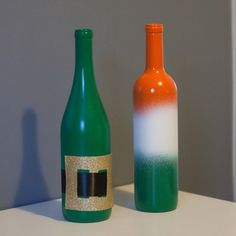St. Patricks Day Festive Wine Bottles by SplendidSmash on Etsy, $10.00